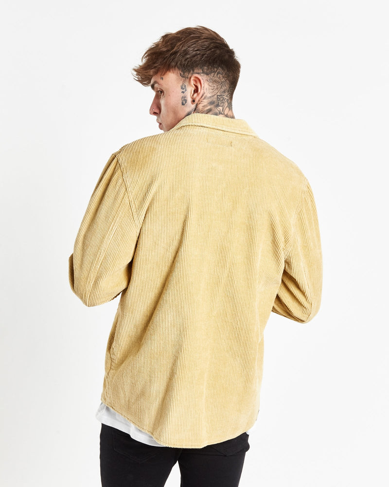 Load image into Gallery viewer, Liquor n Poker - Cordurouy denim shirt in tan