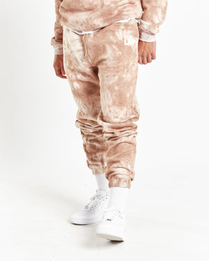 Candy relaxed jogger in mocha tie dye