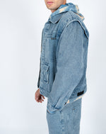 Liquor n Poker - utility pocket denim jacket in vintage stonewash