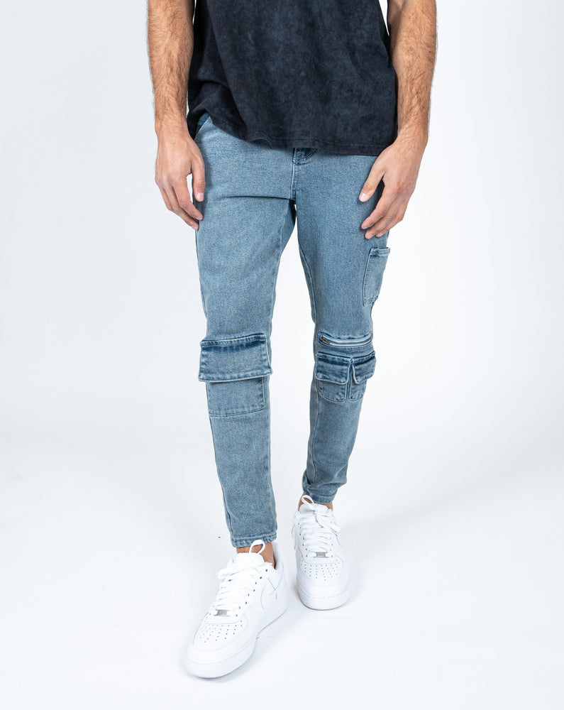Load image into Gallery viewer, Liquor n Poker - utility pocket skinny jeans