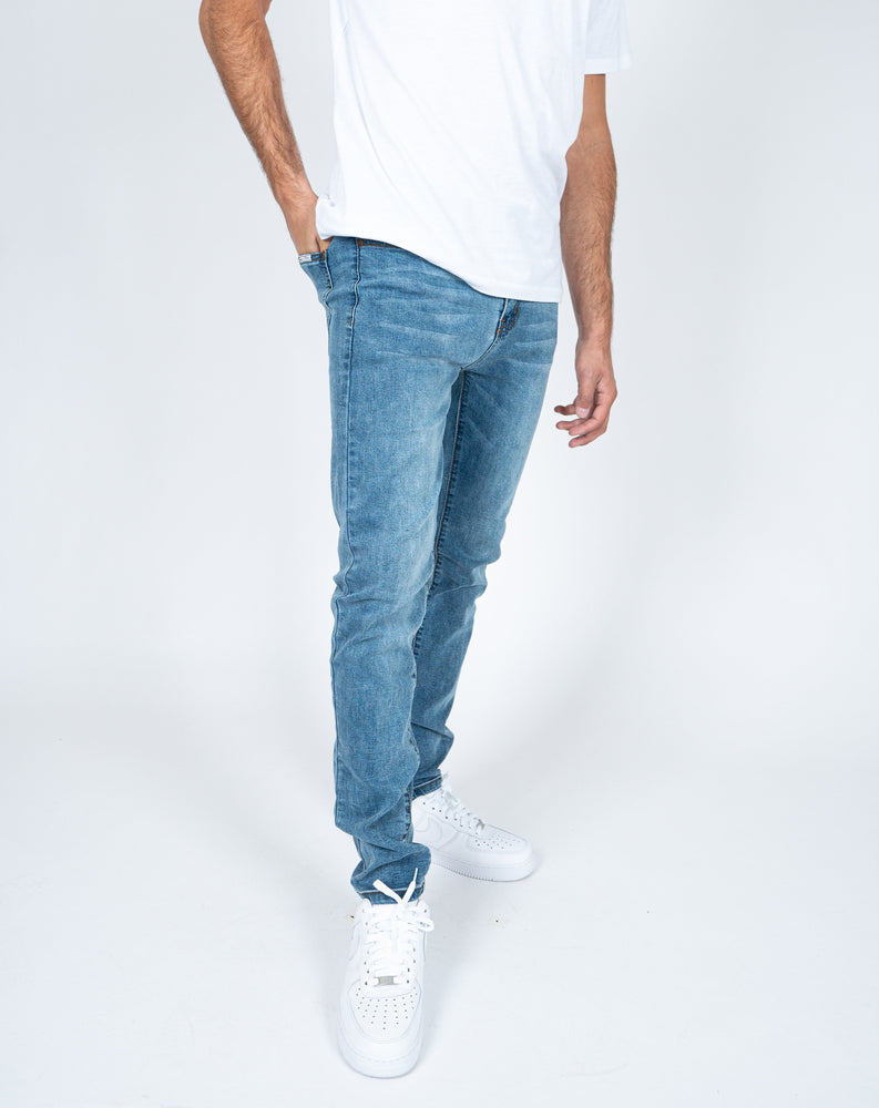 Logan clean skinny jeans in vintage wash denim
