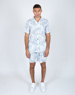 Liquor n Poker Future faces print co-ord revere collar shirt