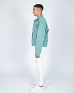 Liquor n Poker oversized denim jacket in sage green