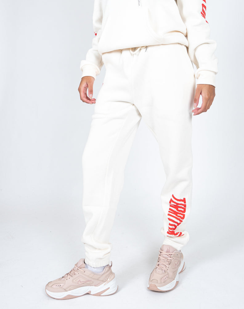 Liquor n Poker - UNISEX Territory jogger in off white