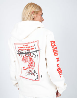 Load image into Gallery viewer, Liquor n Poker - UNISEX Territory tiger hoodie in off white