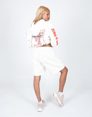 Load image into Gallery viewer, Liquor n Poker - UNISEX Essentials jersey shorts in off white