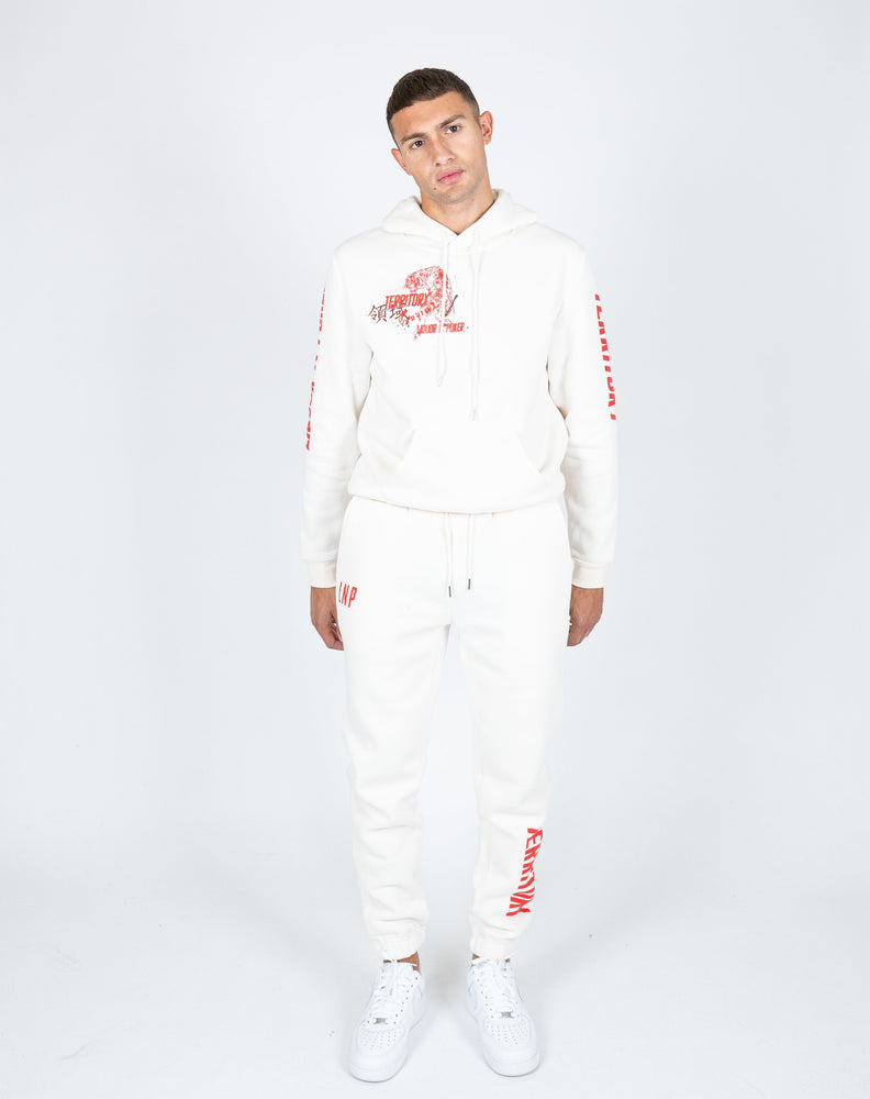 Liquor n Poker - UNISEX Territory tiger hoodie in off white