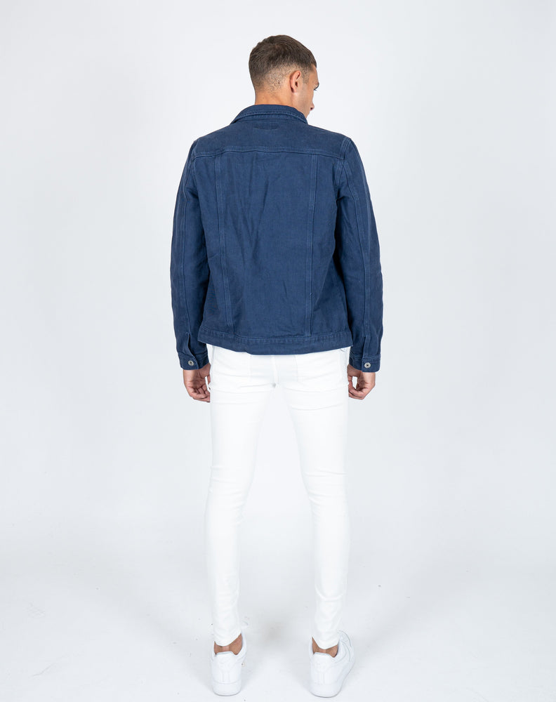 Norton slim fit denim jacket in navy blue