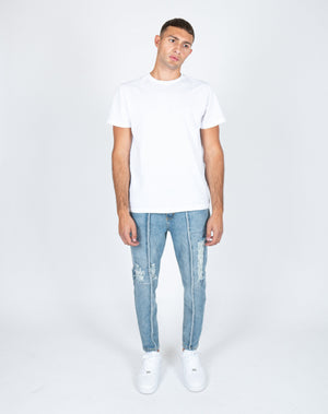 Load image into Gallery viewer, Faro tapered slim fit jeans with raw edge