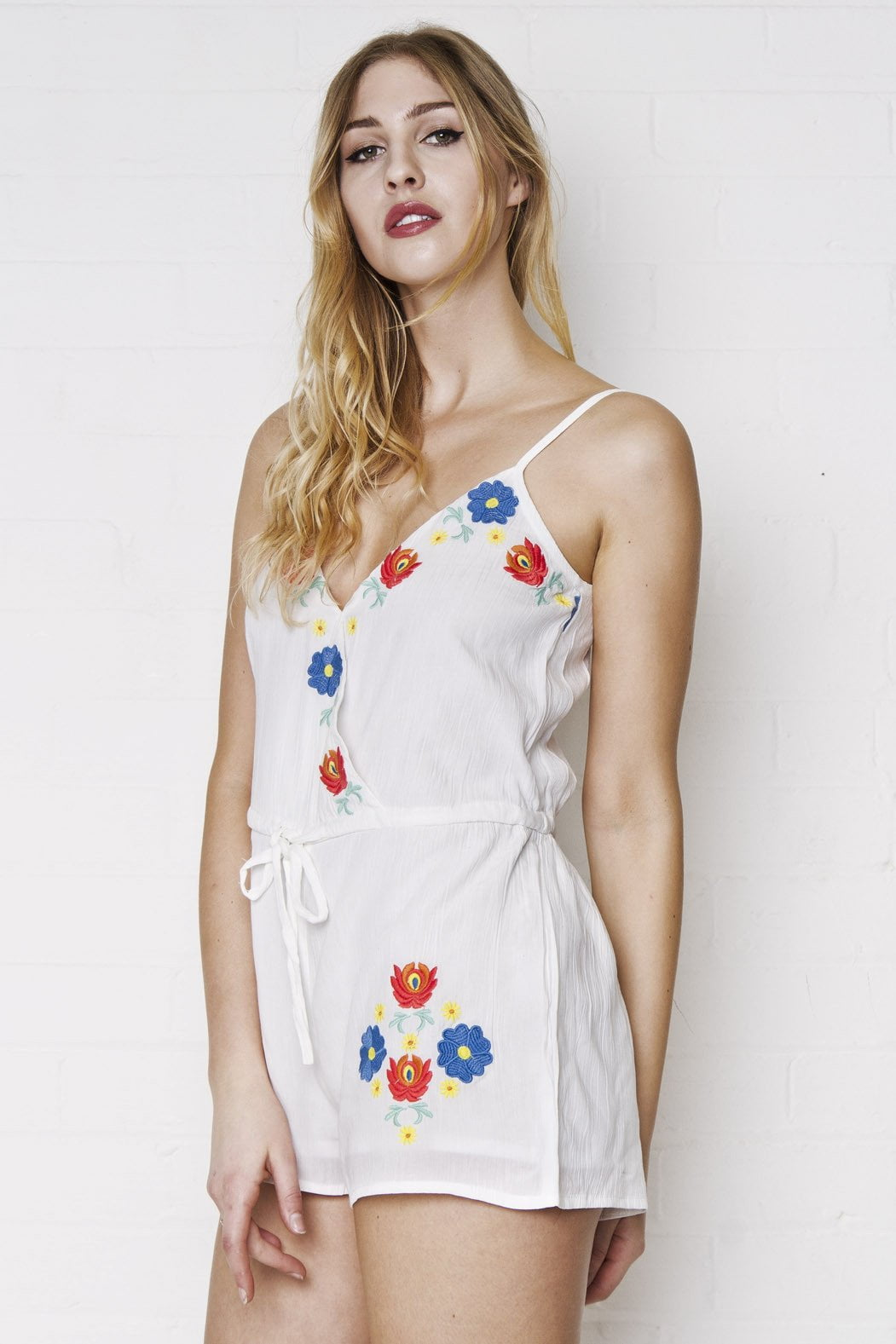 Ariana Floral Embroidered Playsuit - Liquor N Poker  Liquor N Poker