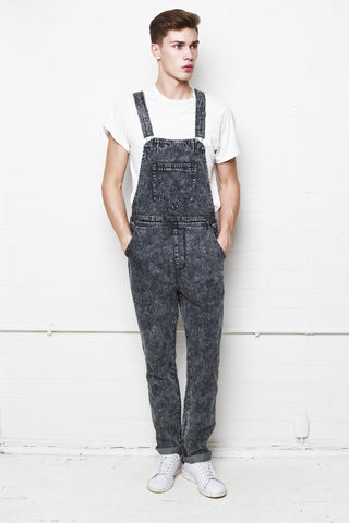Liquor n Poker - Louisiana Acid Washed Black straight leg dungaree - Liquor N Poker  Liquor N Poker
