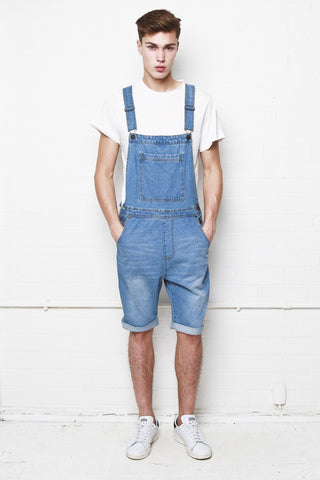 Liquor n Poker - Louisiana denim dungaree shorts - Liquor N Poker  Liquor N Poker