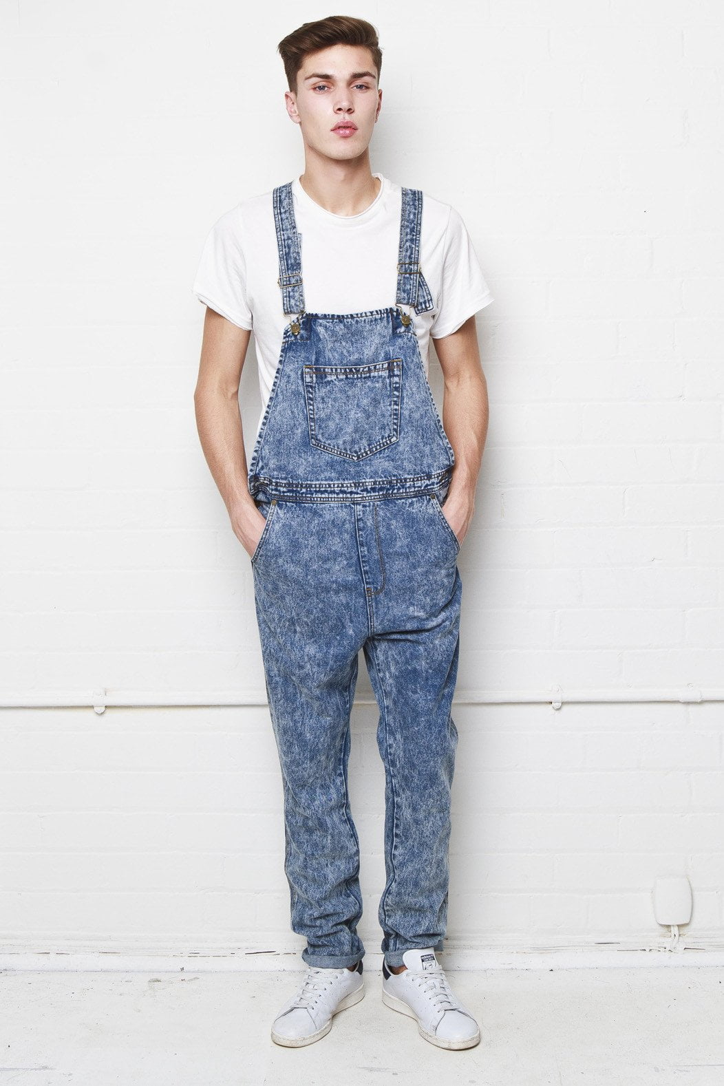 Liquor n Poker - Louisiana Acid Washed Blue straight leg dungaree - Liquor N Poker  Liquor N Poker