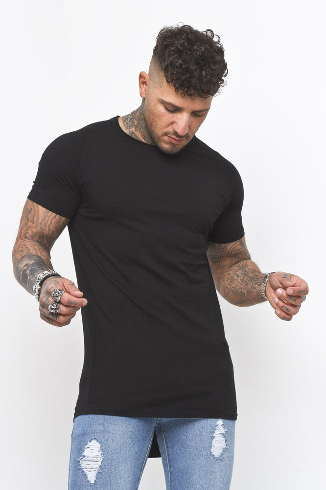 Muscle Fit T-Shirt In Black - Liquor N Poker  LIQUOR N POKER