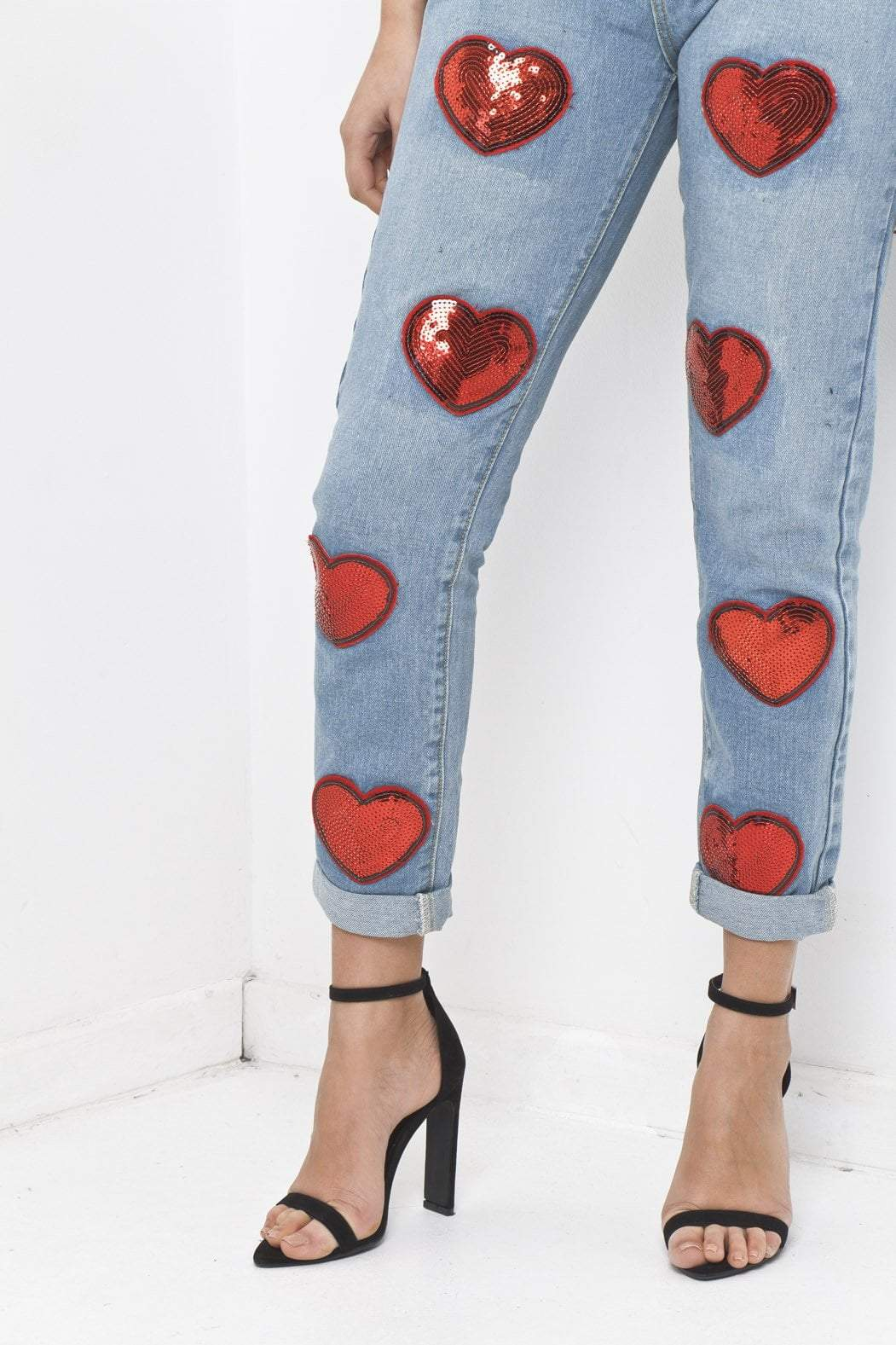 Liquor n Poker - LAX MOM Festival Jeans with love hearts - Liquor N Poker  Liquor N Poker