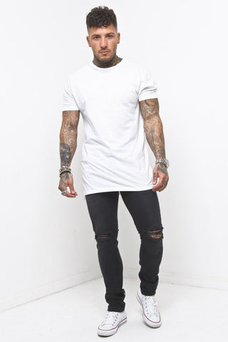 Liquor n Poker - Muscle fit t shirt in Beige