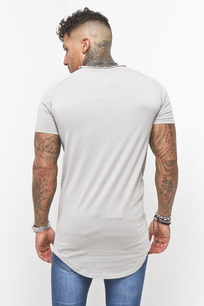 Muscle fit t shirt in stone - Liquor N Poker  LIQUOR N POKER