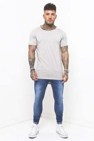 Faro Slim jeans with bleach splatter