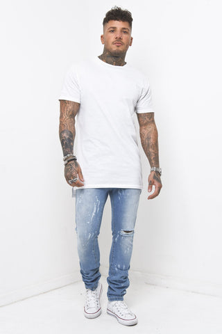 Slim Jeans Embroidered Taping