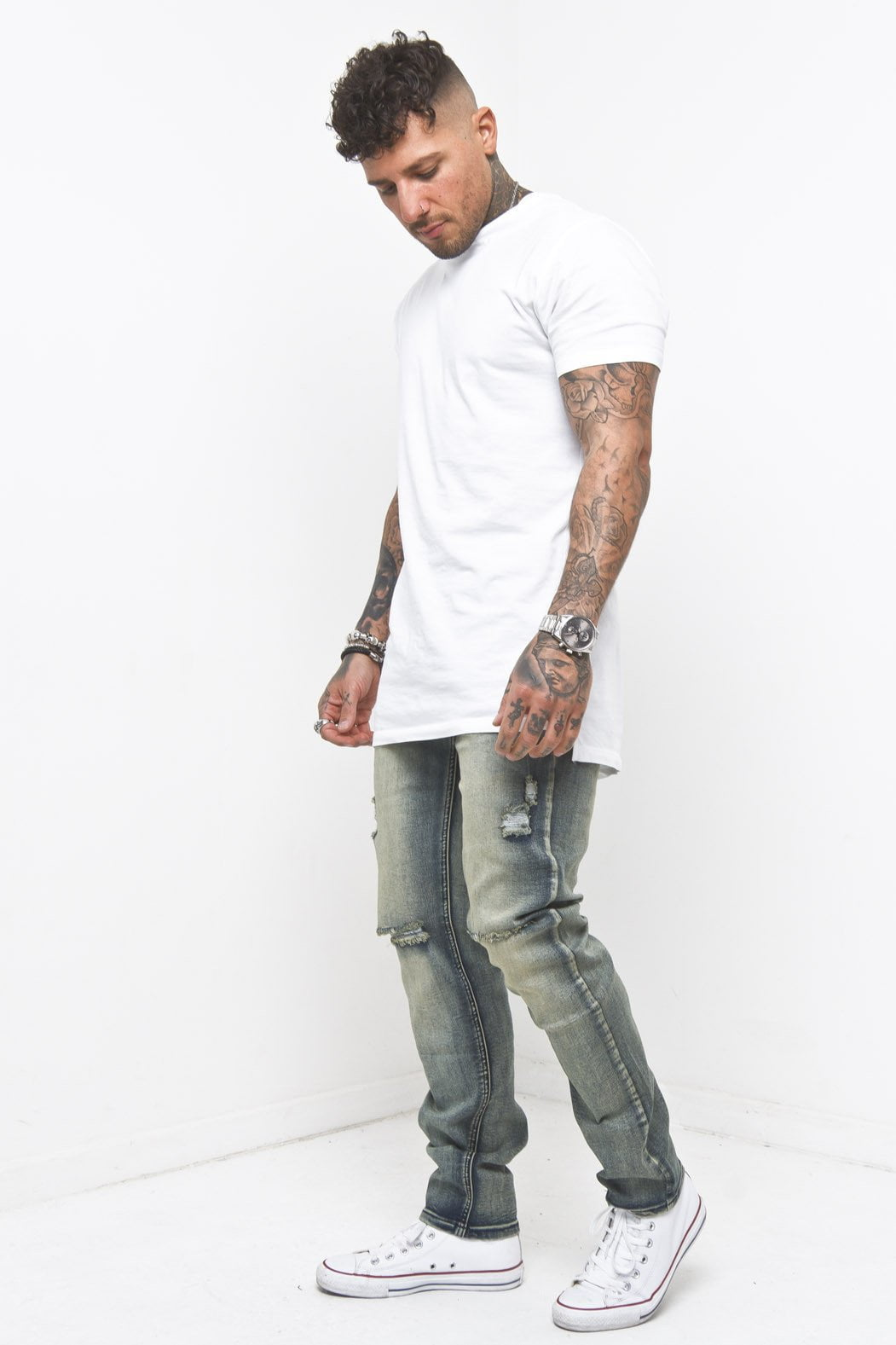 Faro Slim fit dirty washed denims - Liquor N Poker  Liquor N Poker