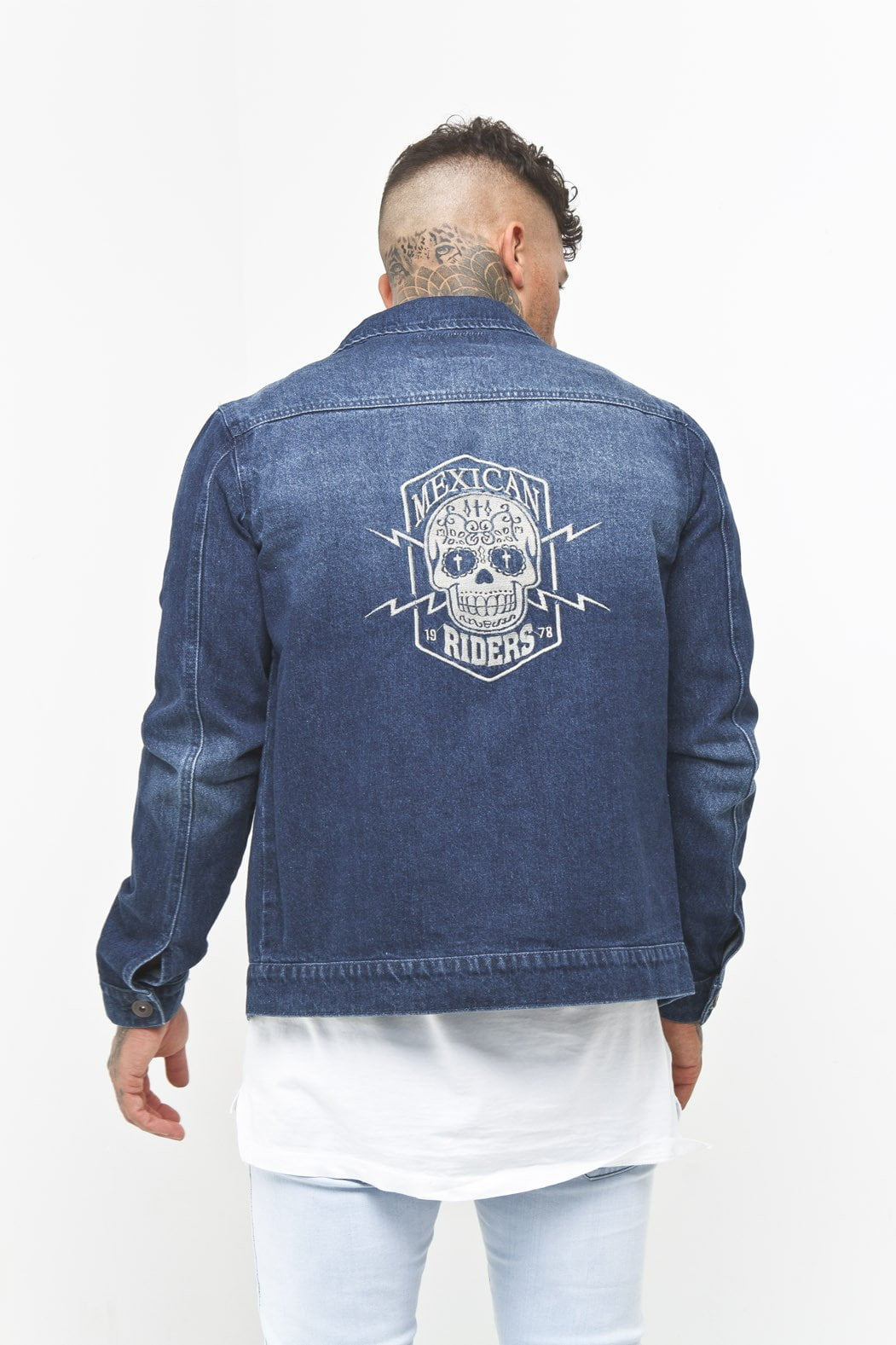 Liquor n Poker - Denim Mexican Riders Jacket - Liquor N Poker  Liquor N Poker