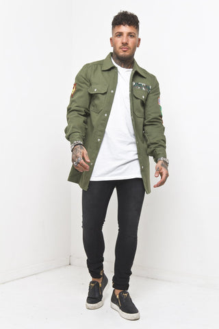 Charleston Distressed Drop Crotch Jogger In Khaki