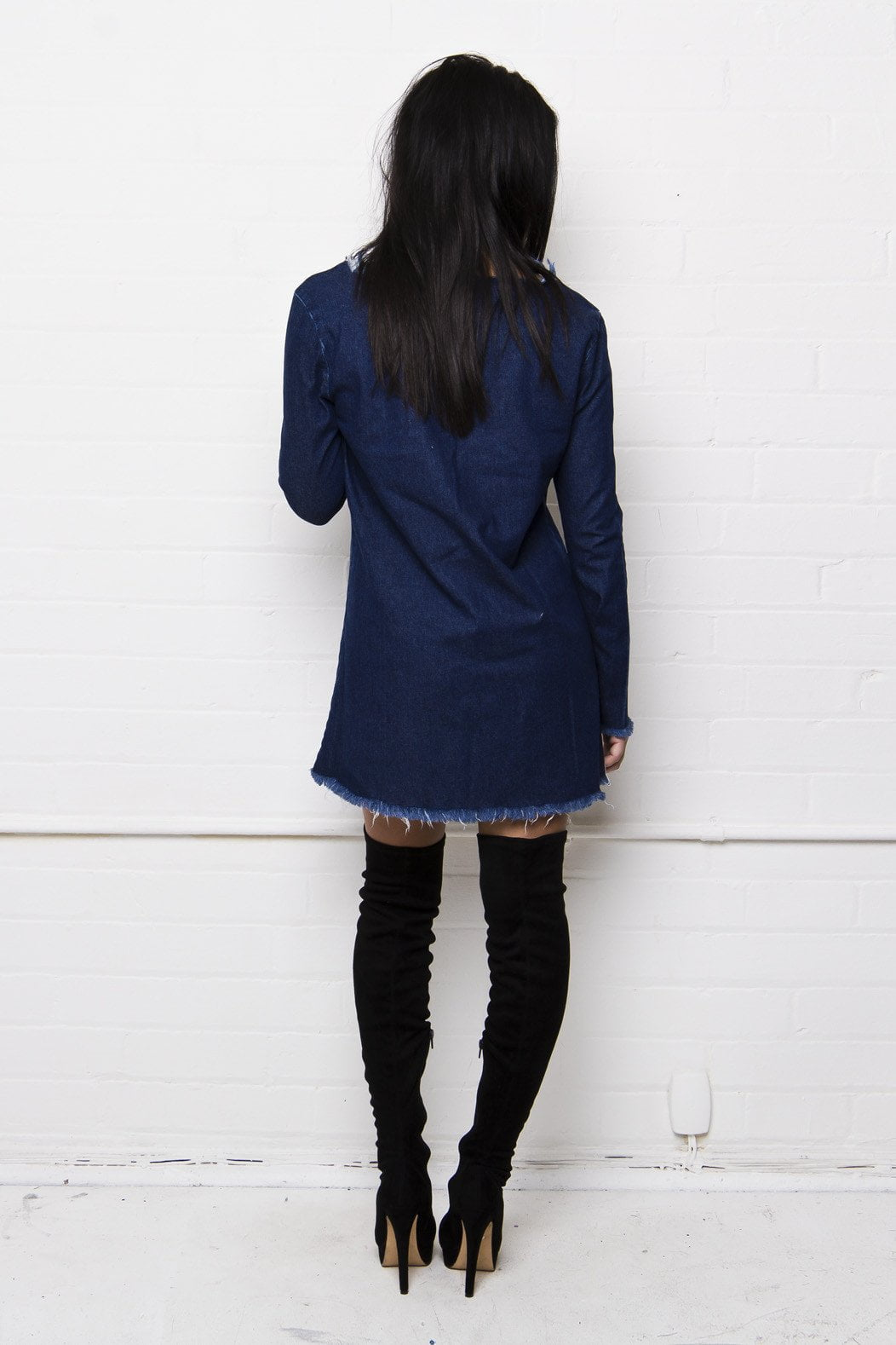 Prarie Bell Sleeve Denim Dress - Liquor N Poker  Liquor N Poker