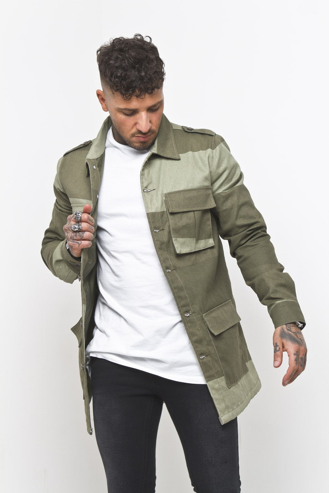 Liquor n Poker - Patchwork Military Jacket - Liquor N Poker  Liquor N Poker