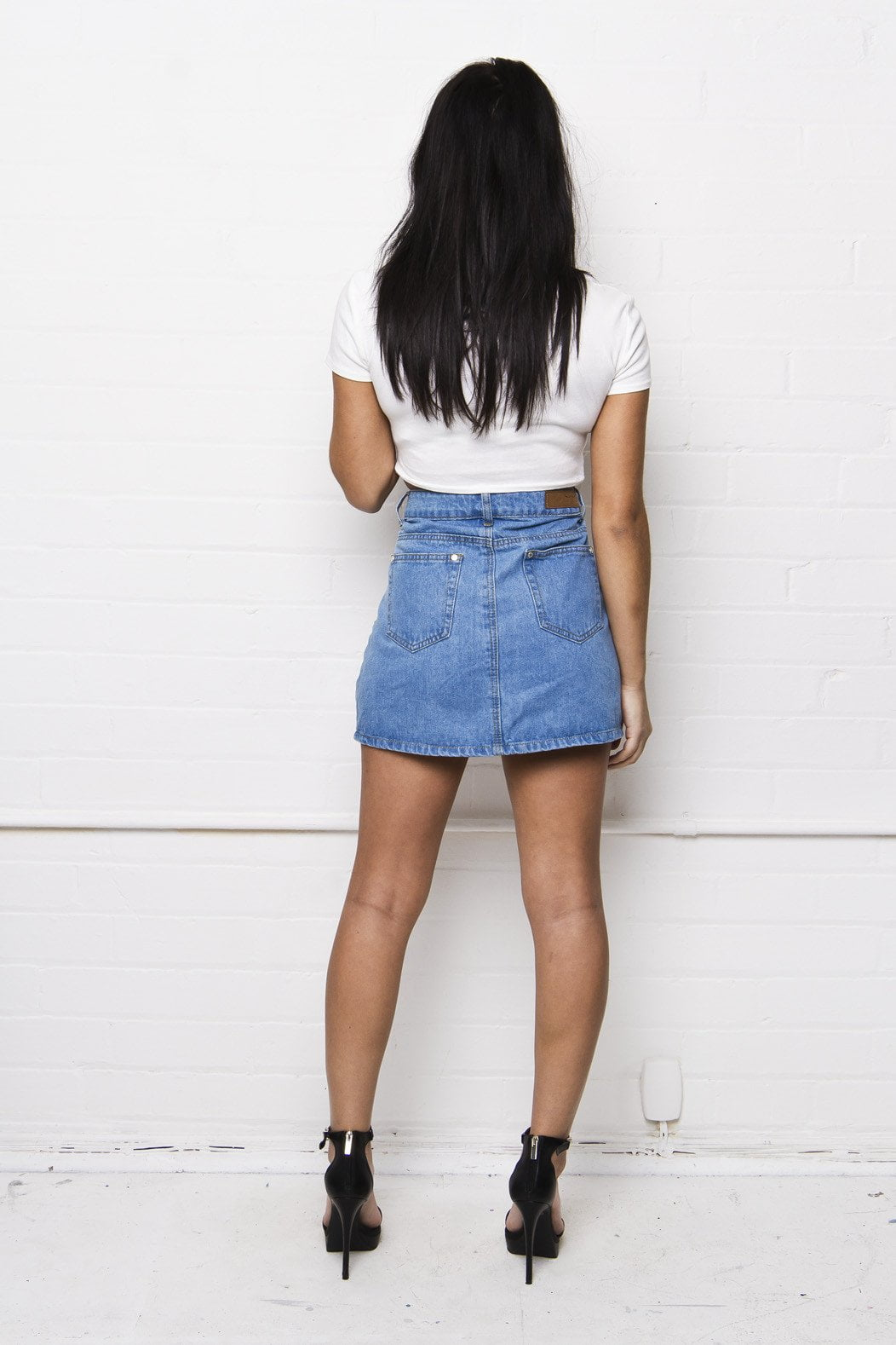 Liquor n Poker - Breezy distressed denim mini skirt - Liquor N Poker  Liquor N Poker