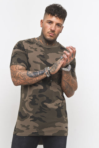 Camo Printed Muscle Fit Tee Shirt - Liquor N Poker  Liquor N Poker