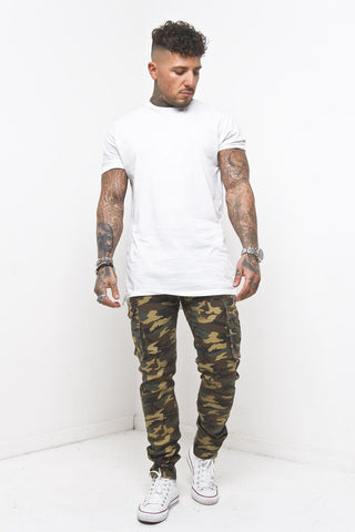 Liquor & Poker - Faro Slim Brown Camo Cargo Trousers - Liquor N Poker  Liquor N Poker