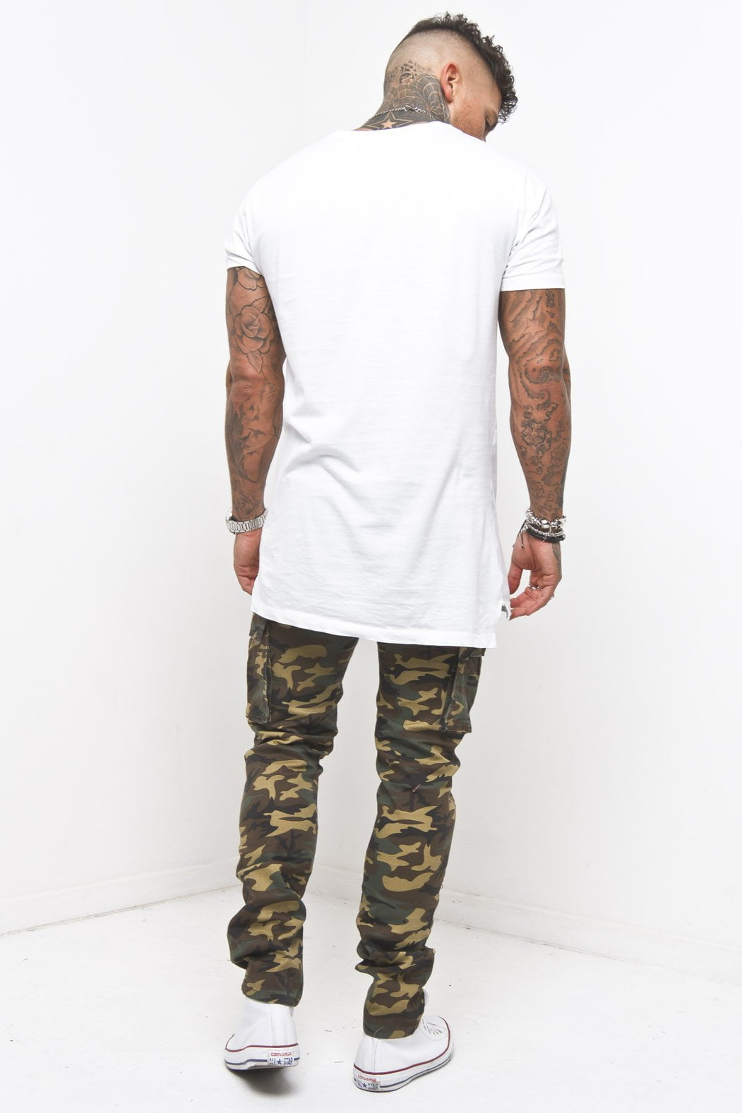 Faro Slim Brown Camo Cargo Trousers - Liquor N Poker  Liquor N Poker