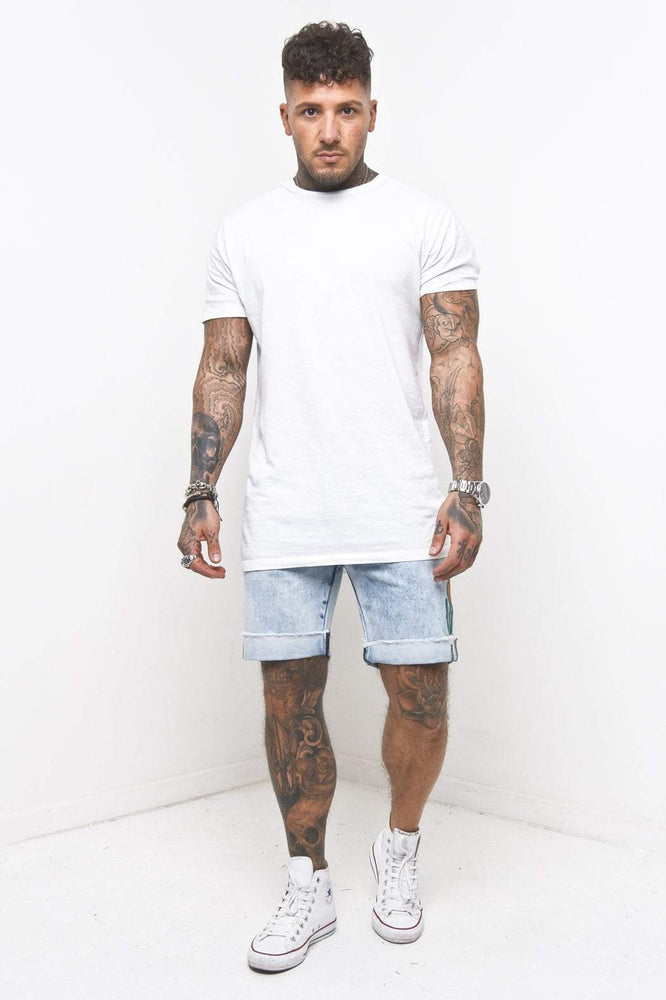 MIAMI RELAXED DENIM SHORTS IN VINTAGE STONEWASH - Liquor N Poker  LIQUOR N POKER