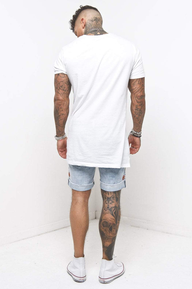MIAMI RELAXED DENIM SHORTS IN VINTAGE STONEWASH