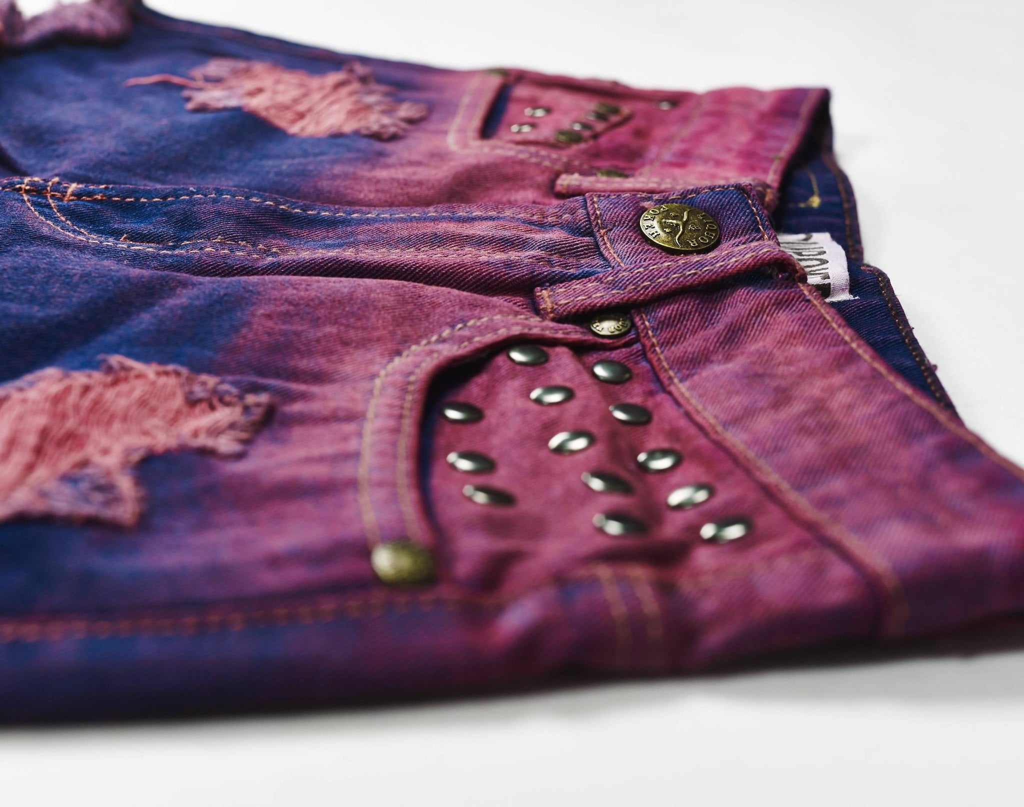 Tijuana High Waisted Purple Knicker Shorts - Liquor N Poker  Liquor N Poker
