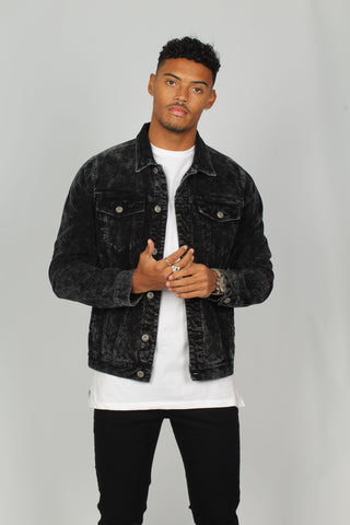 Nevada Washed Black Corduroy Jacket