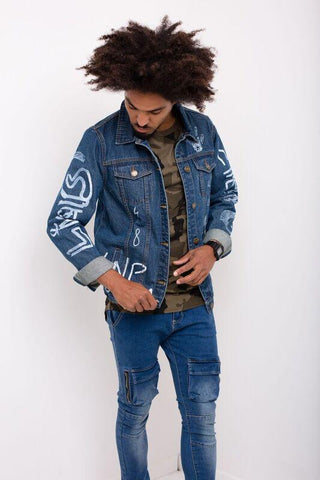 Liquor n Poker - Norton Denim Jacket in Red