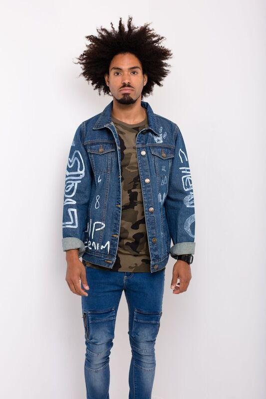 Liquor n Poker - Graffiti Denim Jacket - Liquor N Poker  Liquor N Poker