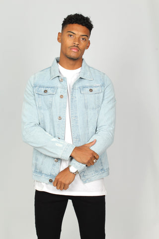 Norton Fitted Stonewash Denim Jacket