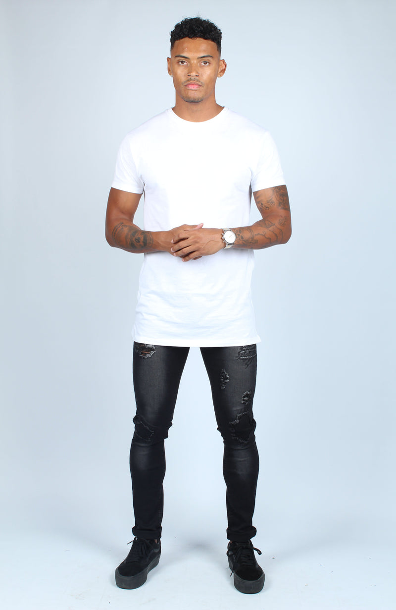 Faro Black Patch Behind Patch Skinny Jeans - Liquor N Poker  Liquor N Poker