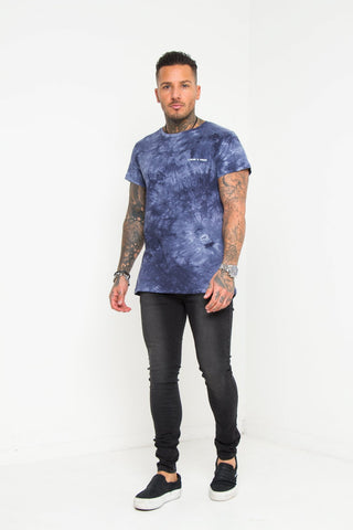 Baller Blue Tye Dye Muscle Fit T-shirt