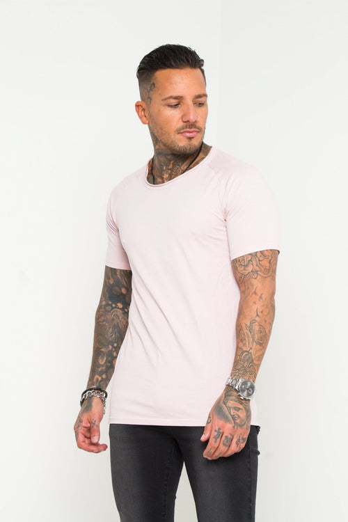 Muscle Fit T-Shirt In Light Pink