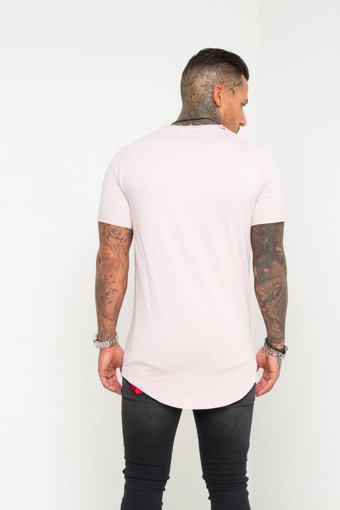 Muscle Fit T-Shirt In Light Pink - Liquor N Poker  LIQUOR N POKER