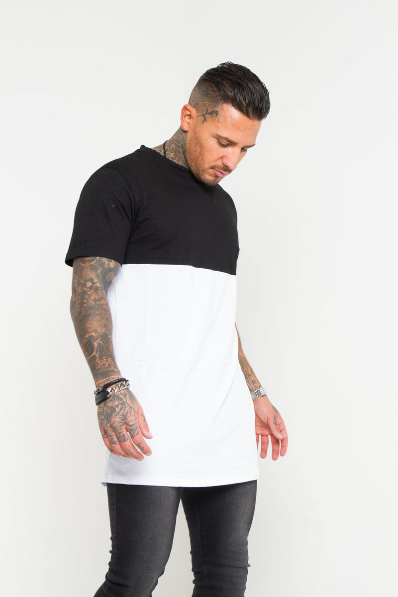VICE VERSA BLACK WHITE BLOCK T-SHIRT
