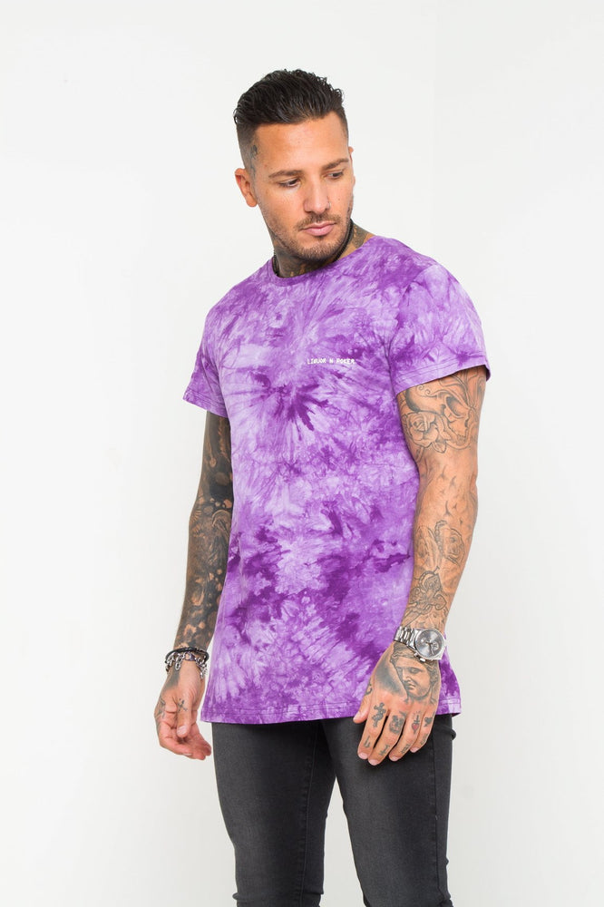 Baller Purple Tye Dye Muscle Fit T-shirt - Liquor N Poker  LIQUOR N POKER