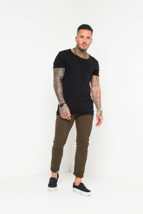 Faro Slim Fit Stretch Chino In Olive Green - Liquor N Poker  Liquor N Poker