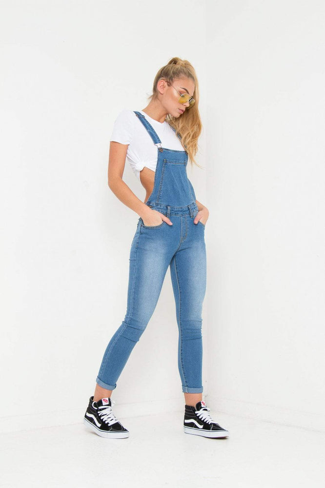 LIZZY STRETCH SKINNY DUNGAREE IN VINTAGE INDIGO