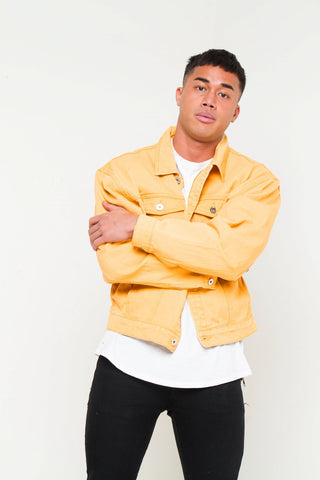 Oversized Mustard Denim Jacket