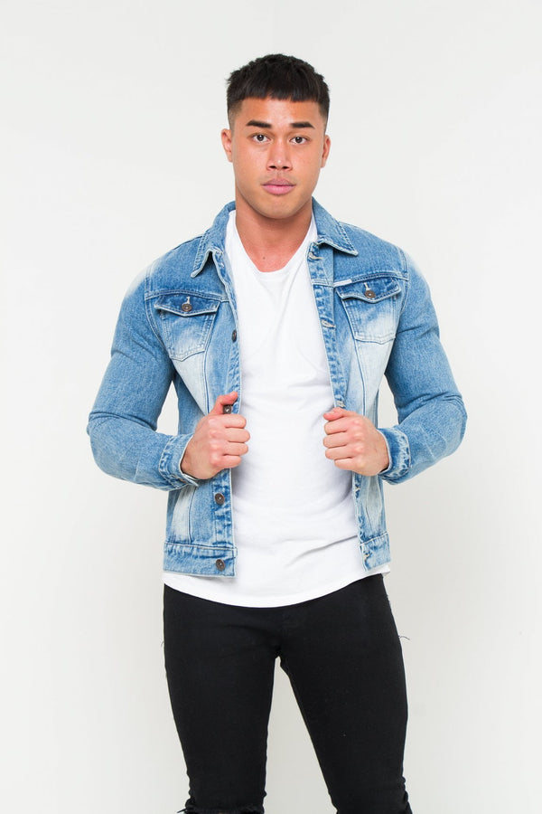 Norton Indigo Stonewash Trophy Tiger Denim Jacket