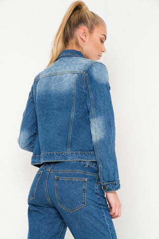 Delaware fitted denim jacket in indigo